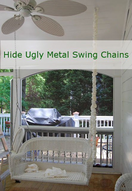 Hiding and Covering Metal Swing Chains