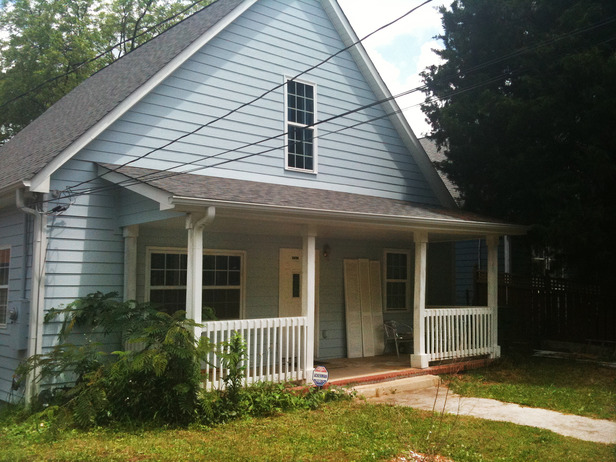 Before Picture of a Home Renovation for Great Curb Appeal