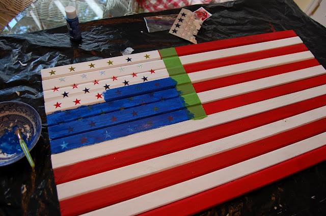 DIY Pottery Barn American Flag Knock-off