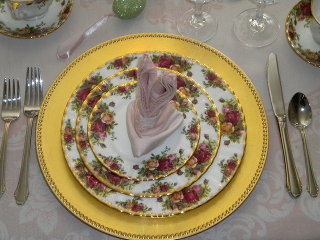 Easter Table Settings Tablescapes with Old Country Rose by Royal Albert