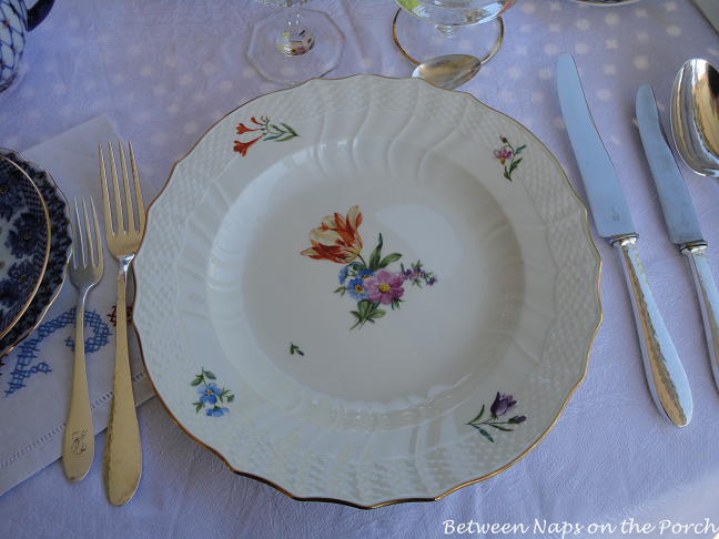 Dining on the Balcony, Table Setting with Lomonosov Porcelain