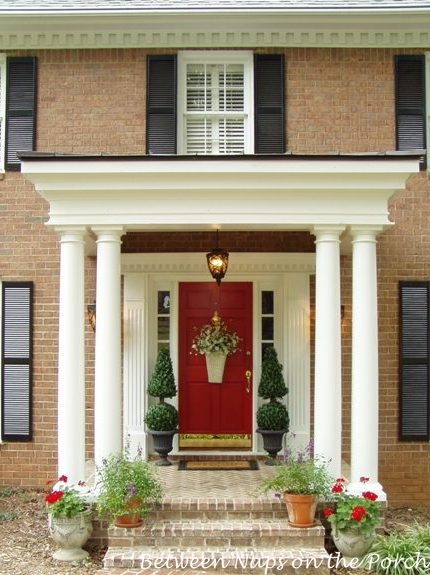 A beautiful front porch renovation Front porch ideas