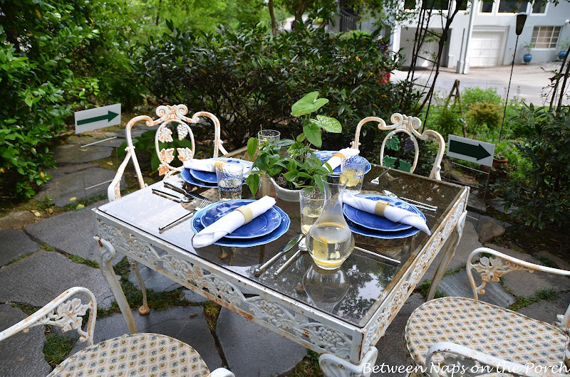 Table Setting in the Garden