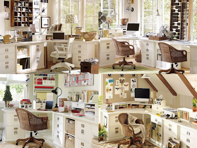 Pottery Barn Bedford Office Before and After
