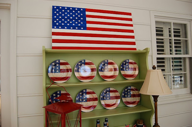 DIY Pottery Barn American Flag Knock-off