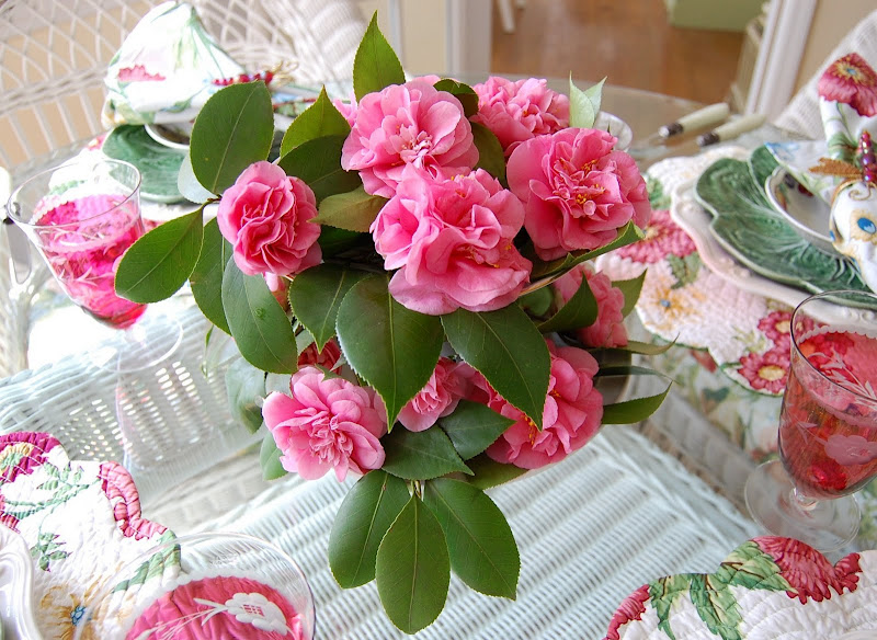 Debutante Camellias In A Springtime Tablescape