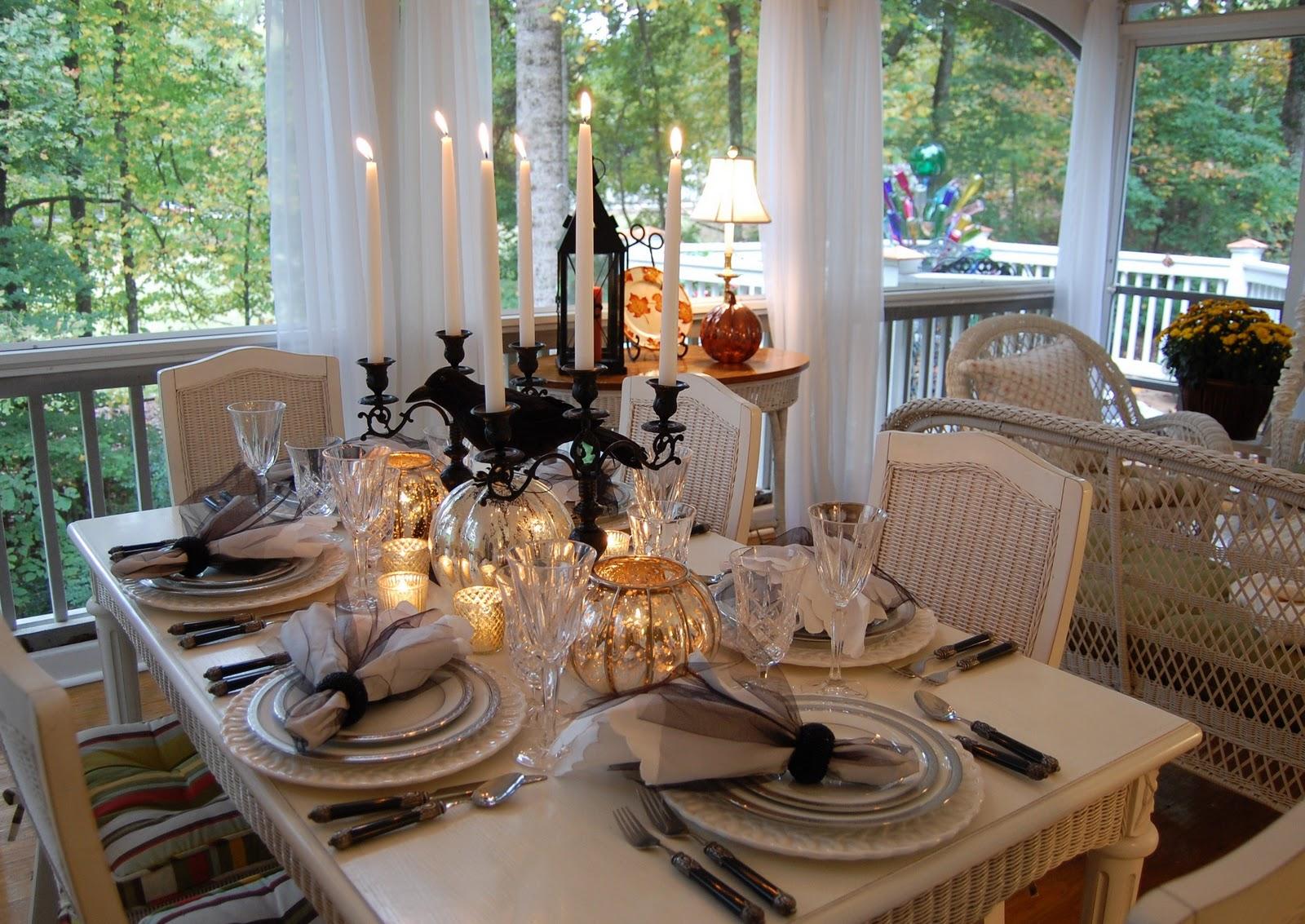 Elegant Halloween Tablescape
