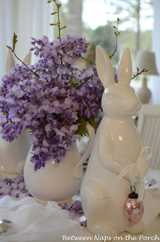 Easter Spring Table Settings Tablescapes with Pottery Barn Bunny Plates