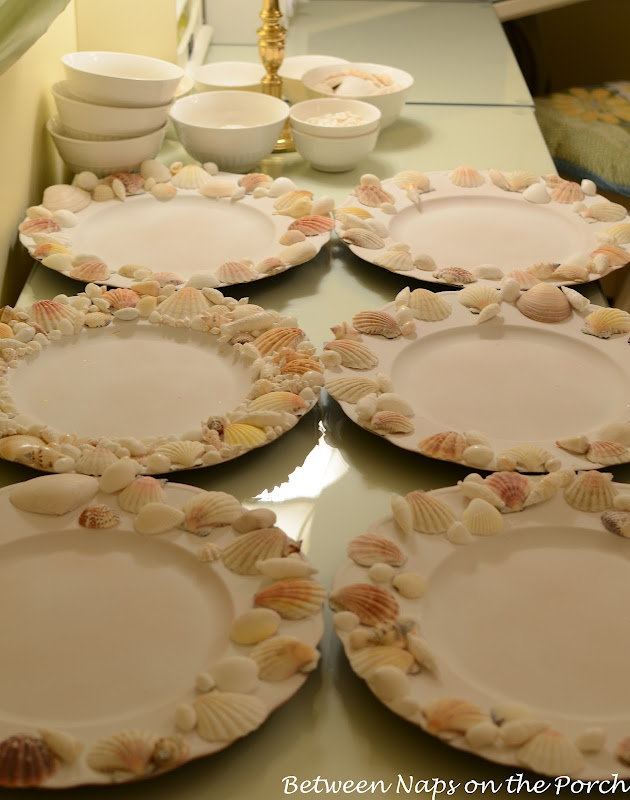 Pottery Barn Shell Chargers Tutorial