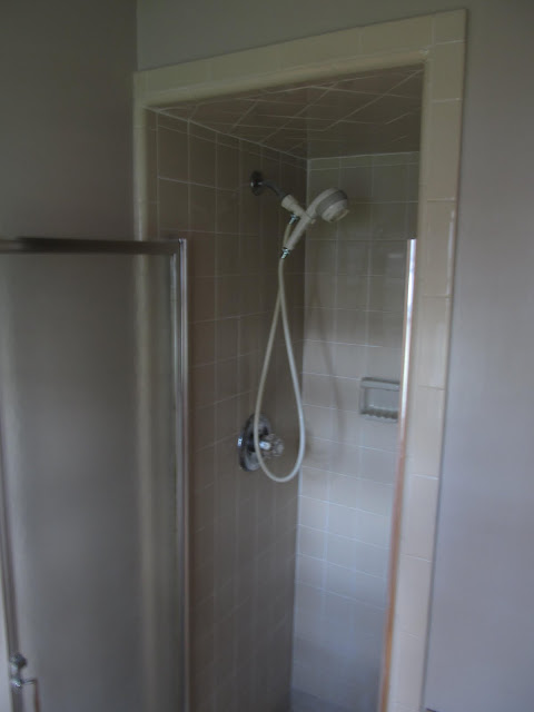 Shower in 1980's Bath before Renovation