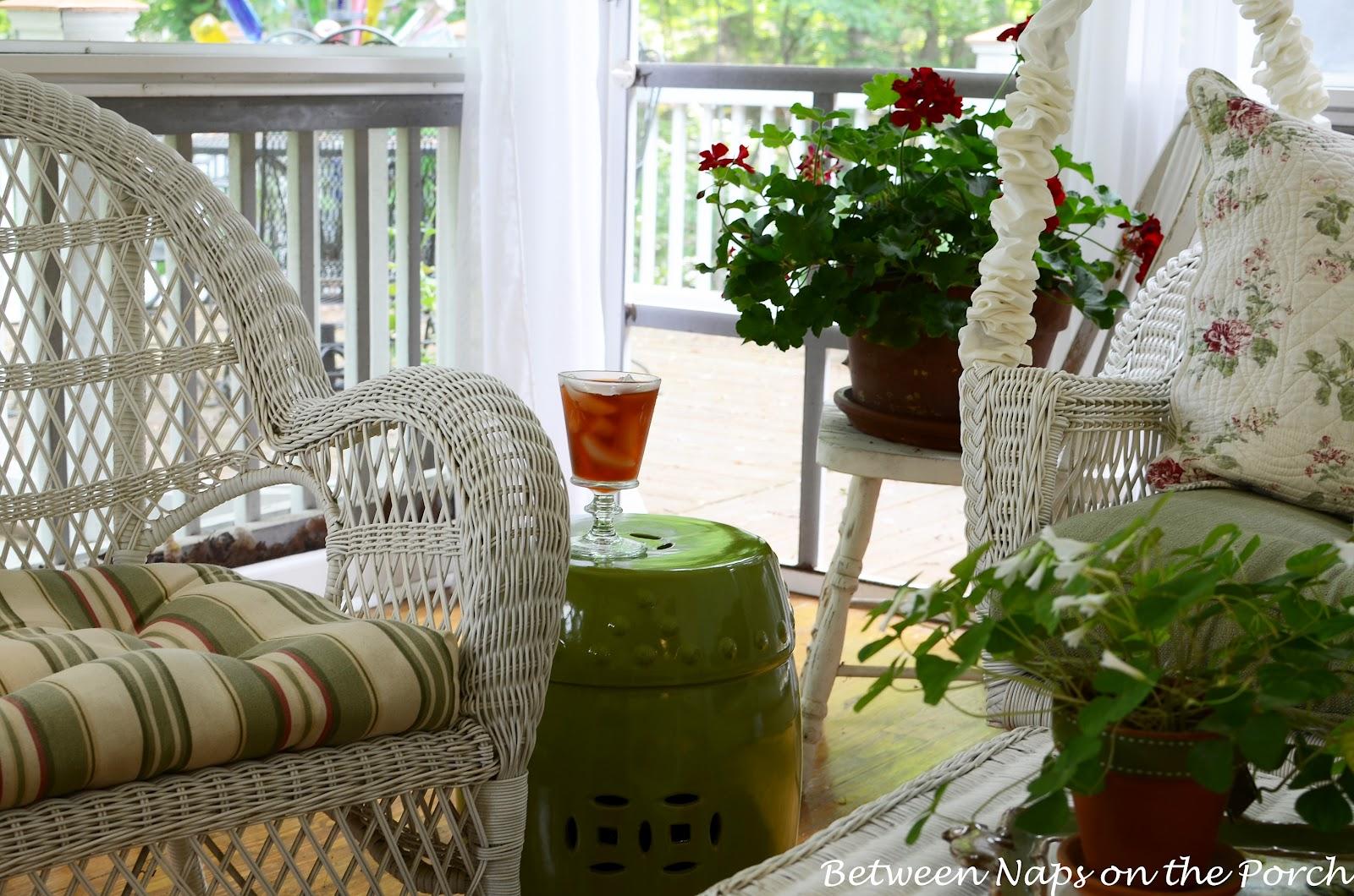 green garden seat garden stool