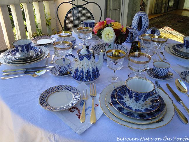 Table Setting with Lomonosov Porcelain