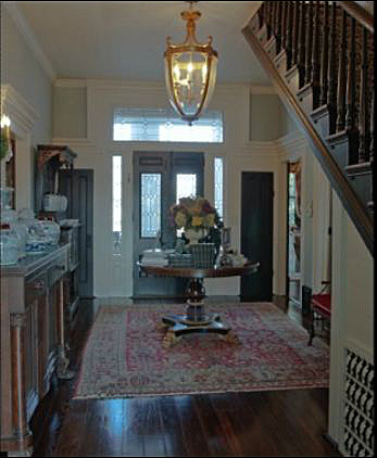Round Entry Hall Table Home Tour: Historic Home Built In 1850