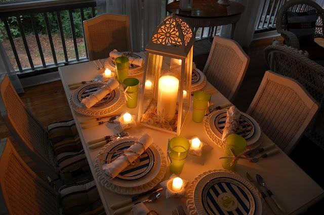 Beach Inspired Table Setting