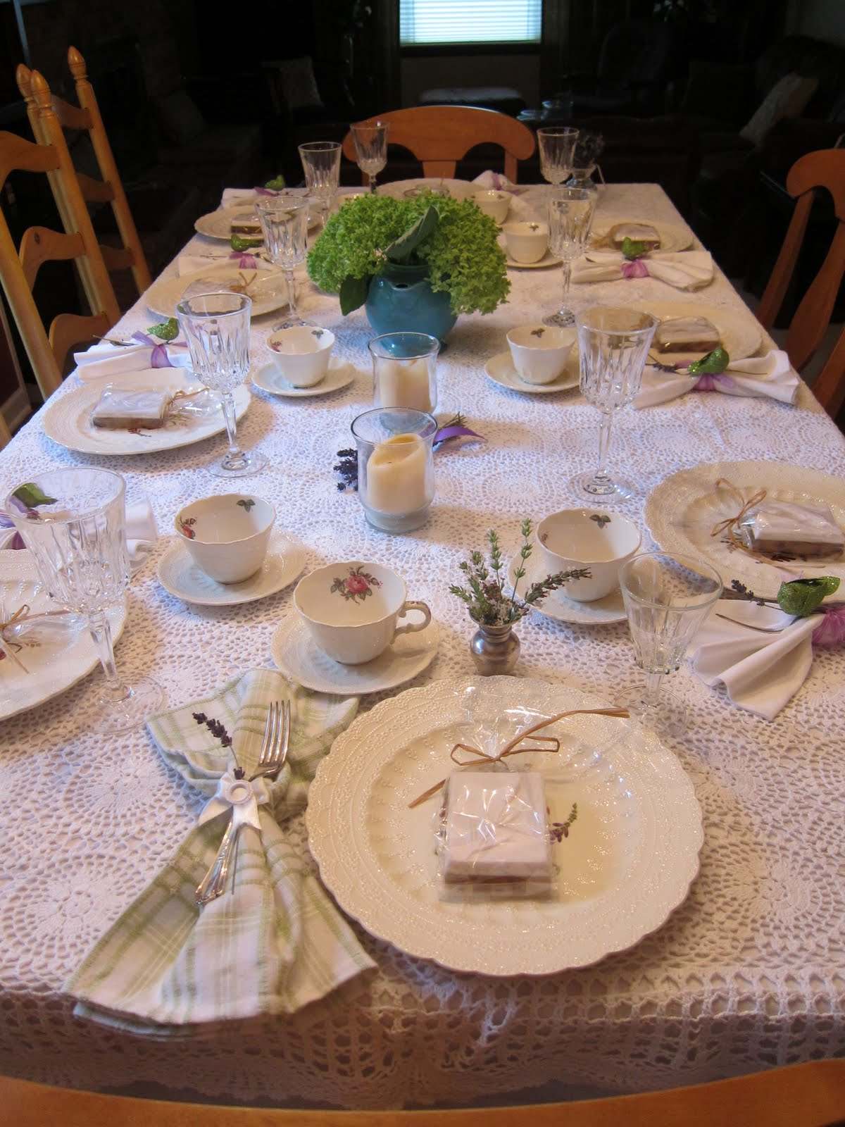 Bridal Tea Table Setting – Between Naps on the Porch