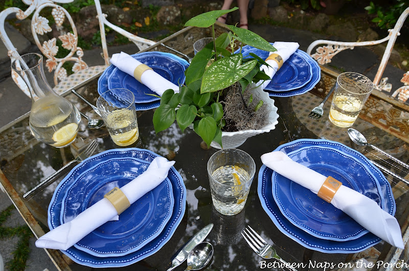 Table Setting in a Secret Garden