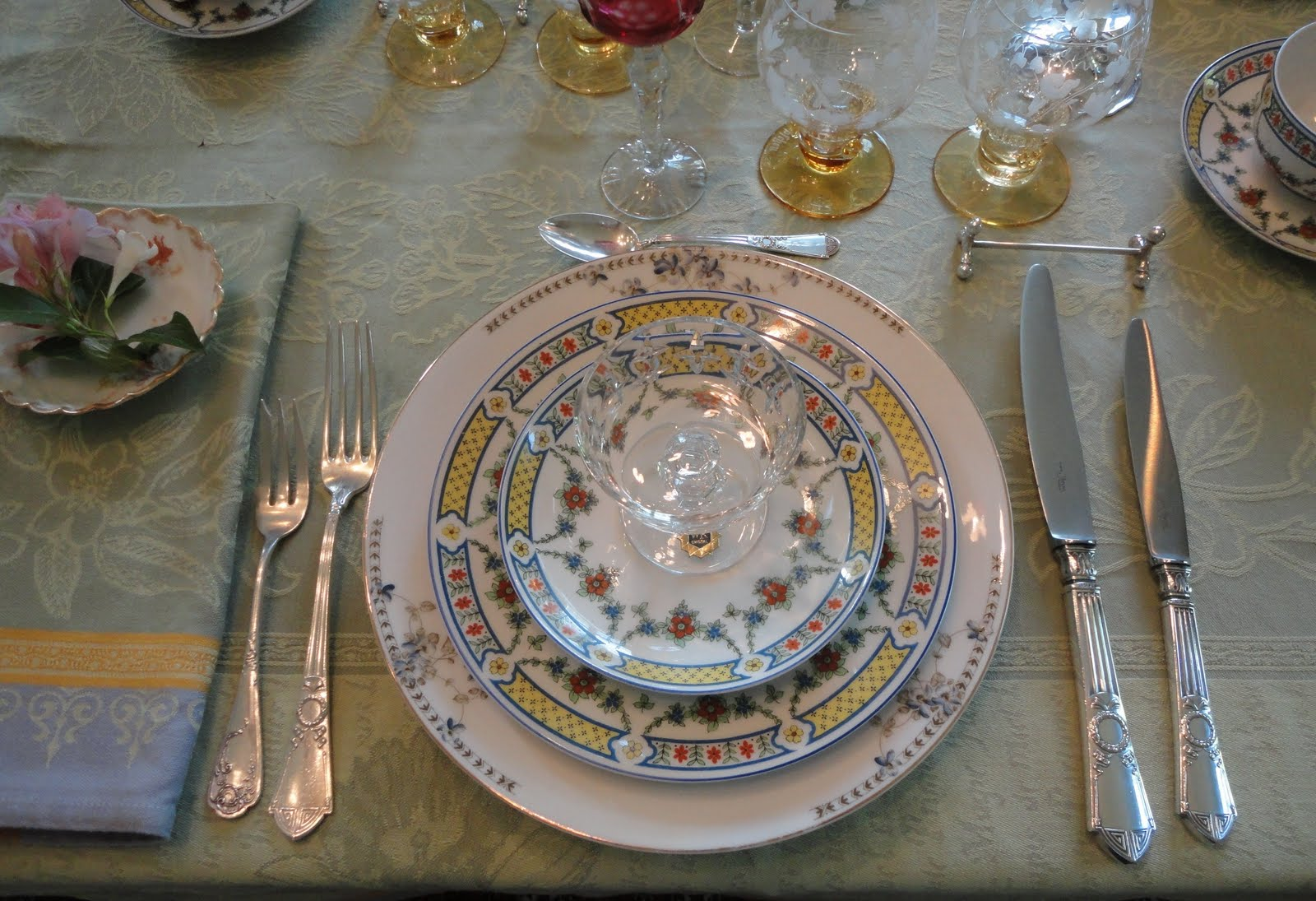 A Beautiful Limoges Table Setting