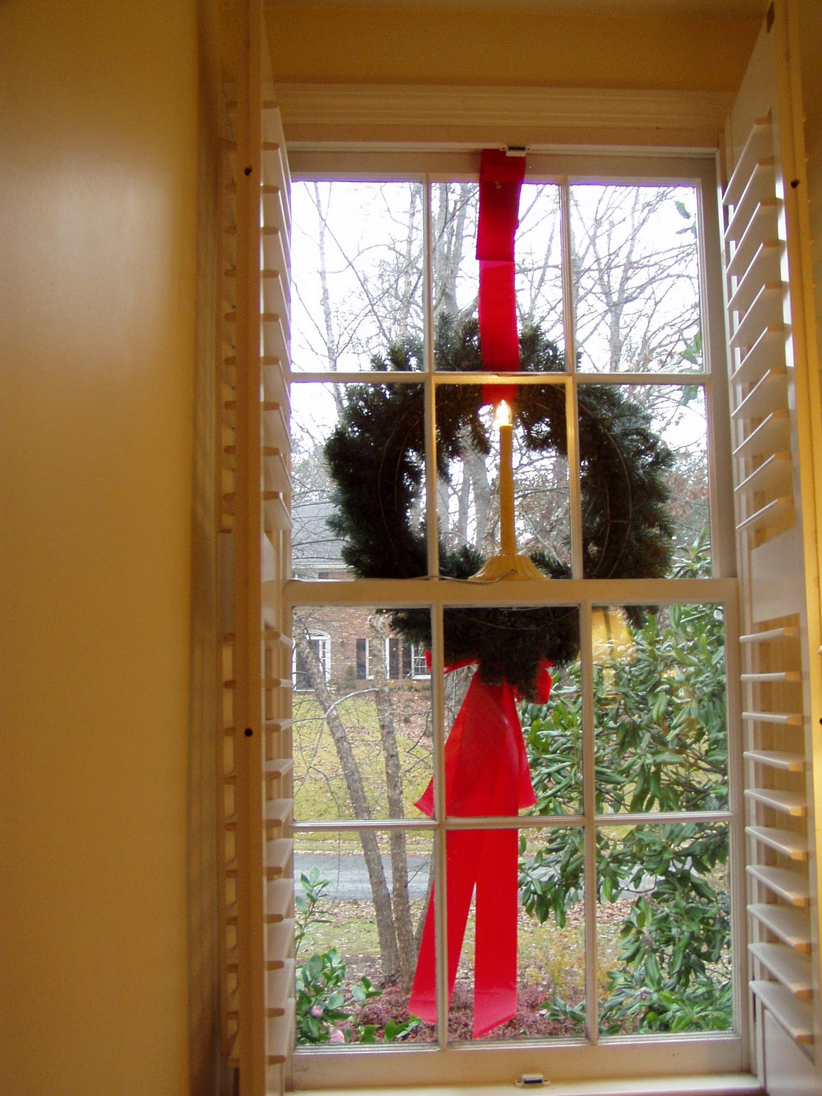 Home Decor Ladder How To Hang Wreaths On Outside Exterior Windows