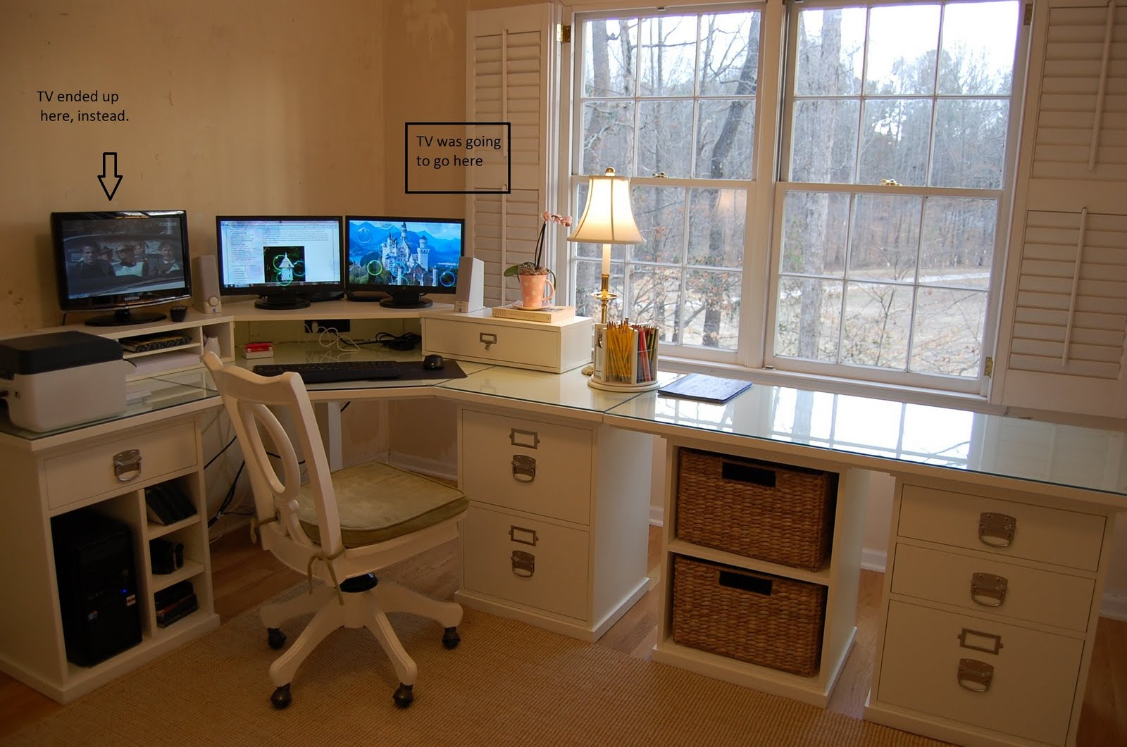 pottery barn bedford office renovation