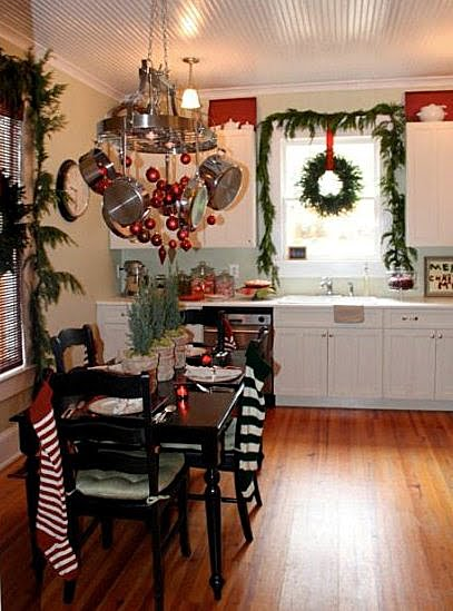 Decorate with wreaths inside for Christmas decorations for inside the home