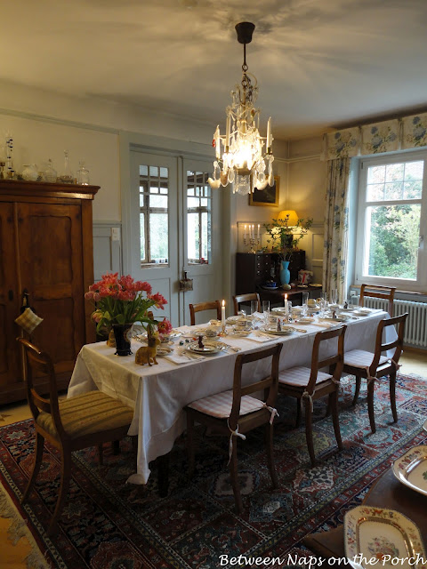 Elegant table setting with Spode Chinese Rose