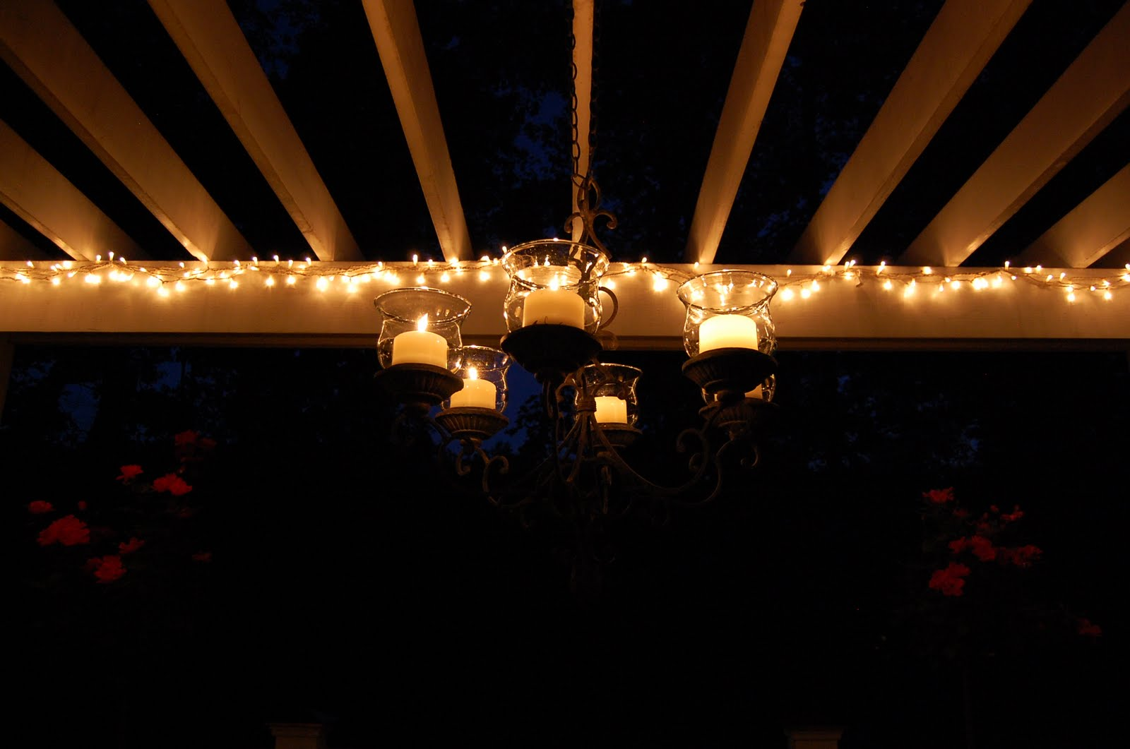 Hanging String Lights On A Pergola : Your Blue Hour Pictures