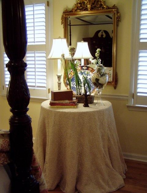 Burlap and Organza Table Skirt