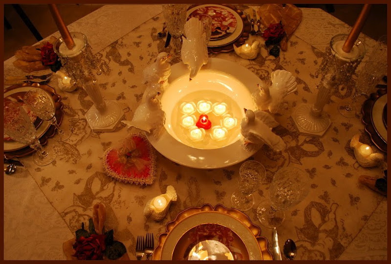 Romantic Valentine's Day Tablescape