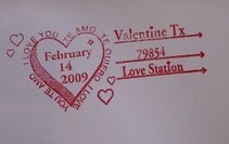 Special Postmark for Valentines from Valentine, Texas for Valentine's Day