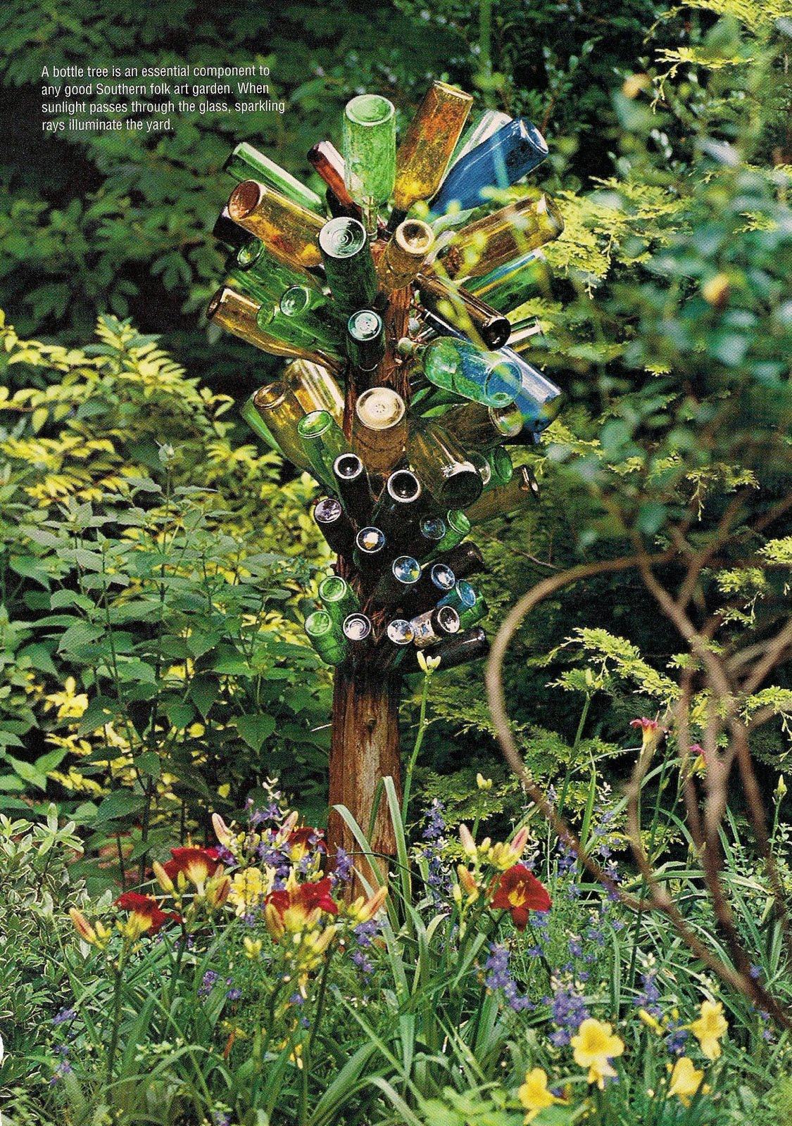 Bottle Trees in the Garden Landscape