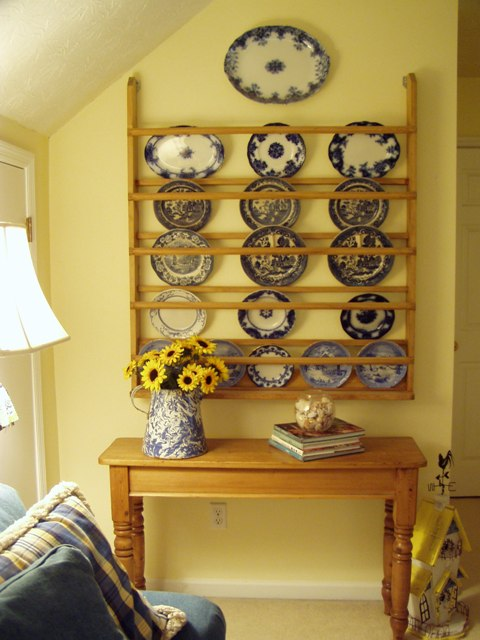 Bonus Room Makeover From To Family And Spill Over. Vintage Solid Pine Wood Plate Shelf Teacup Display Rack ... & Wooden Wall Plate Display Rack - Wooden Designs