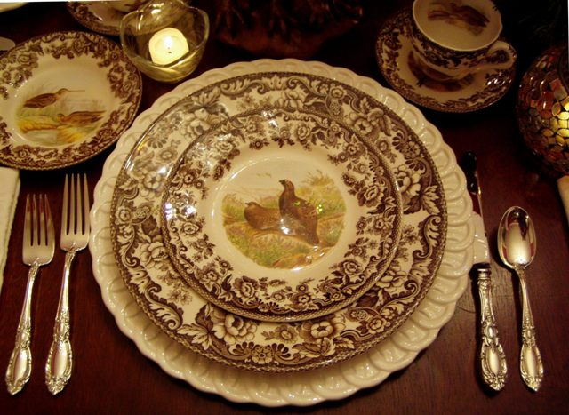 A Thanksgiving Table Setting with Spode Woodland – Between Naps on ...