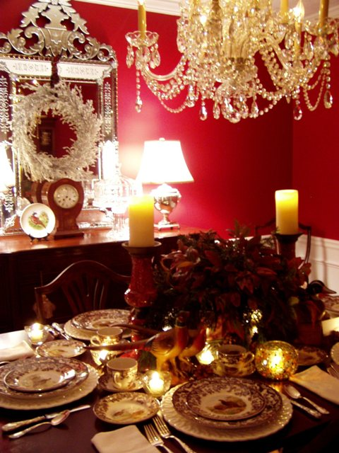Thanksgiving Table Setting with Spode Woodland