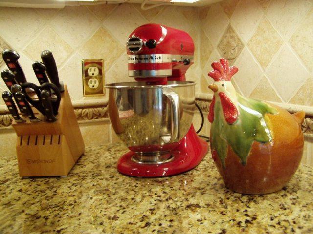 Kitchen Renovation: Red Kitchenaid Mixer