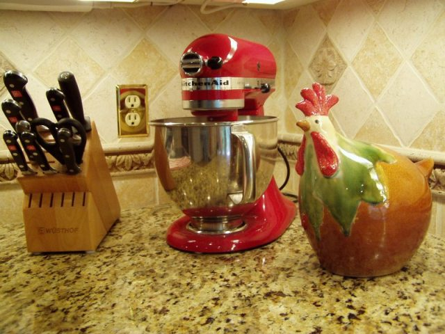 Kitchen Renovation: Red Kitchenaid Mixer