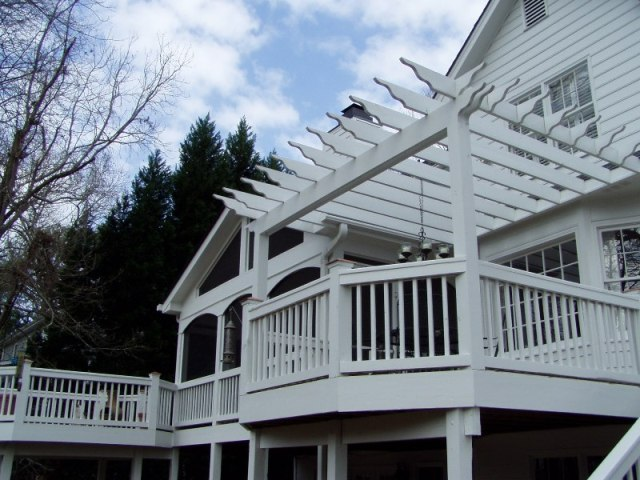 Build a Screened Porch and Decks with Pergola