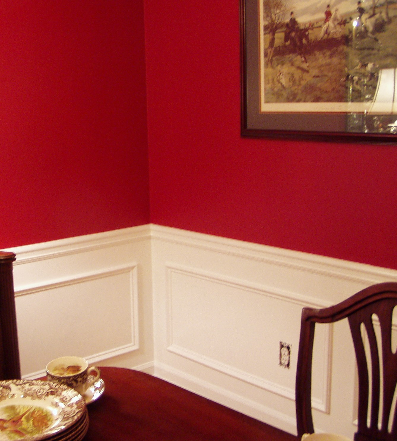adding picture molding to the dining room. Black Bedroom Furniture Sets. Home Design Ideas
