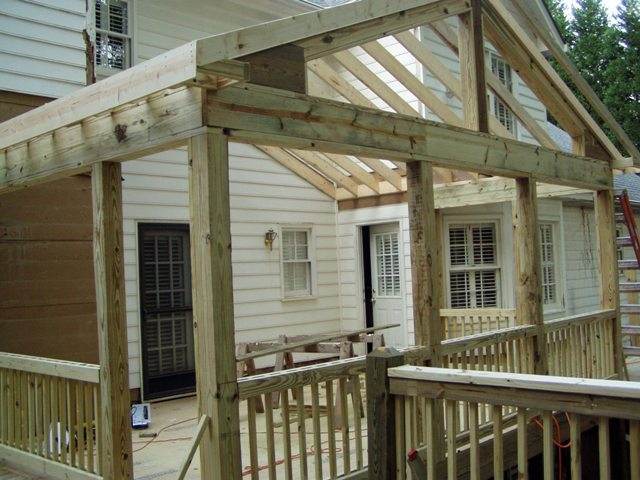 Building a screened in porch for Building a screen room