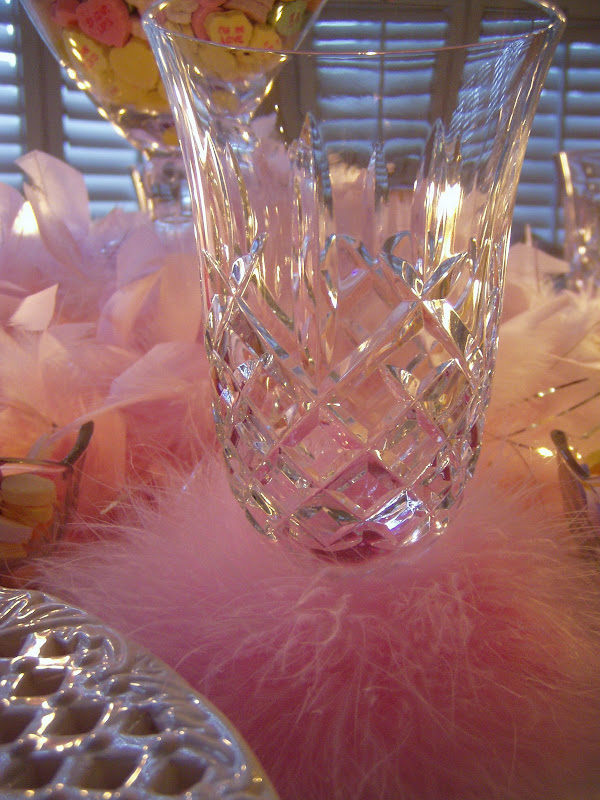 Valentine's Day Table Setting with Waterford Araglin Crystal