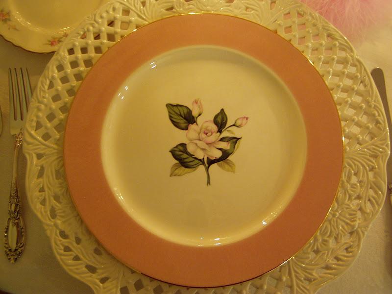 Valentine's Day Table Setting with Vintage China International Glenwood