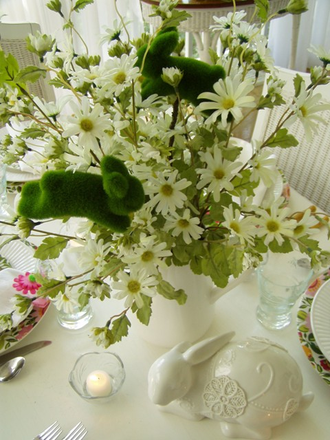Spring Easter Table Setting Tablescape