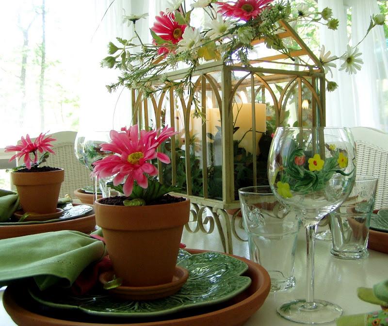 Garden Party Table Setting Tablescape