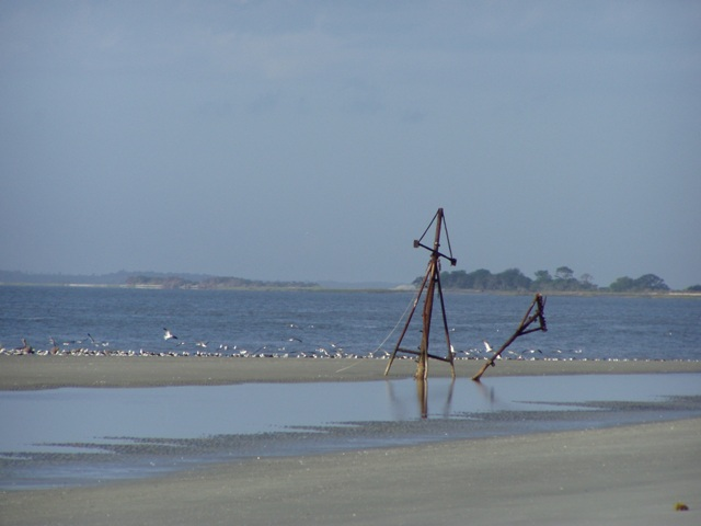 Shrimp Boat, Mary Ann Shipwrecked on Jekyll Island