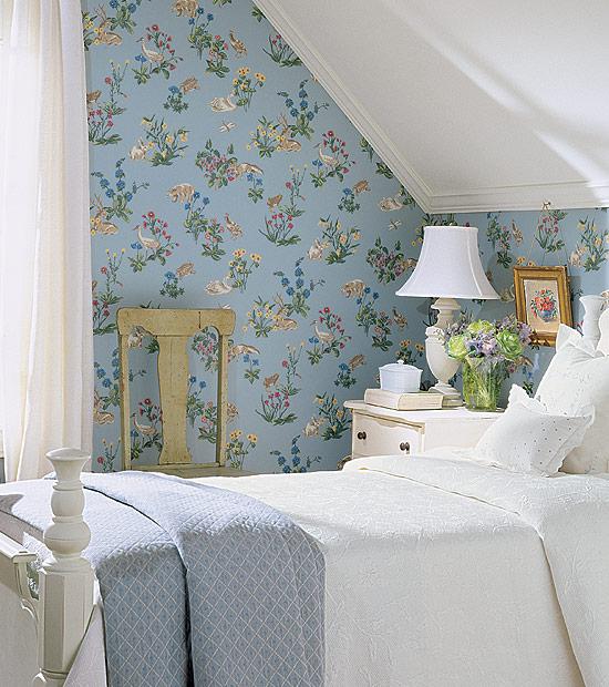 Blue Floral Thibaut Wallpaper