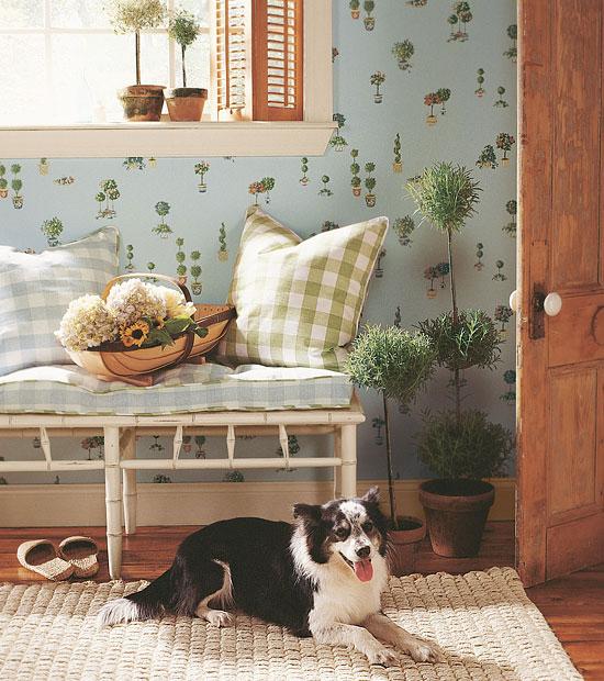 Topiary Thibaut Wallpaper