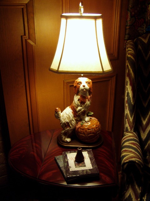 Dog Lamp made from Ceramic Dog