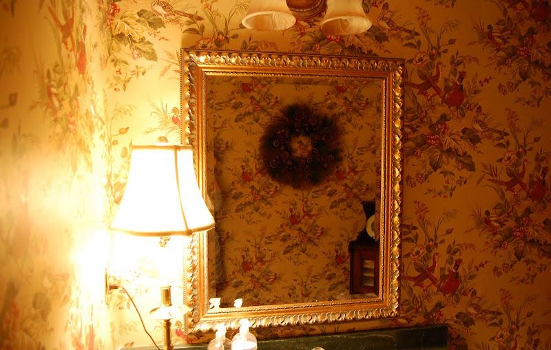 Lamplight in Powder Room