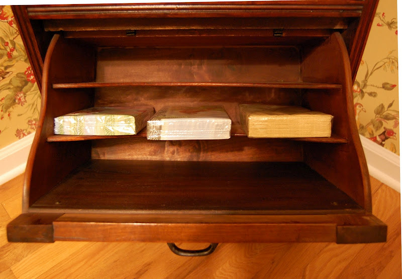 Storage in Antique Record Cabinet