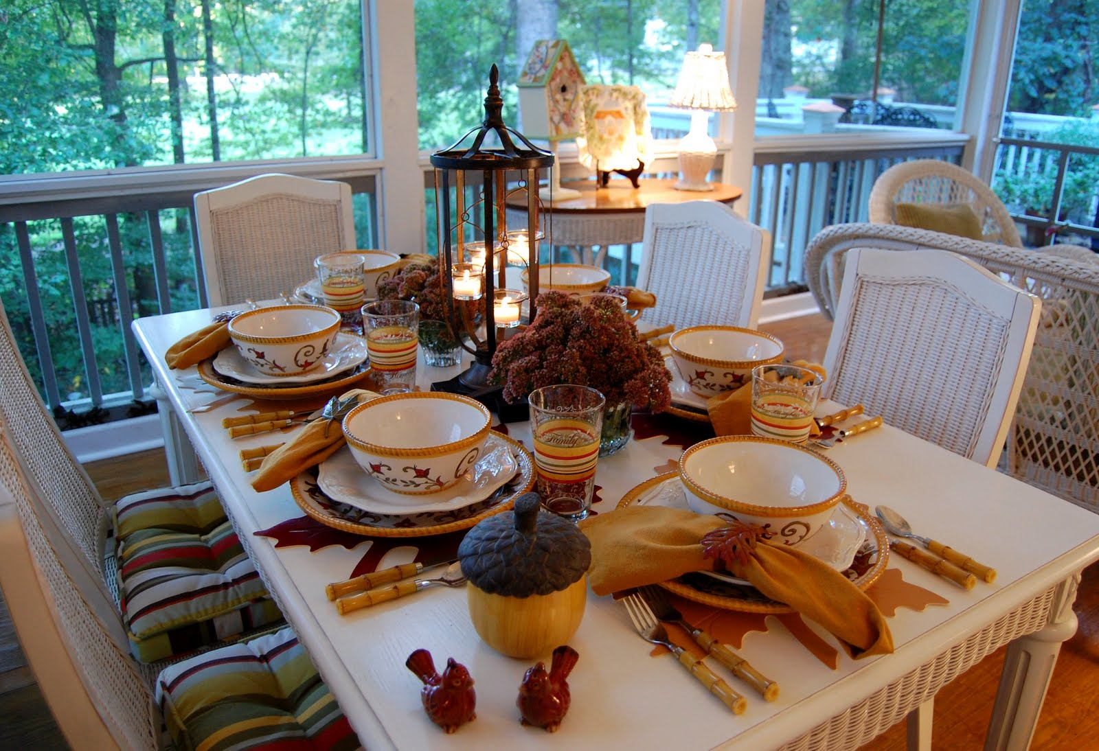 Fall tablescape to autumn for Fall table