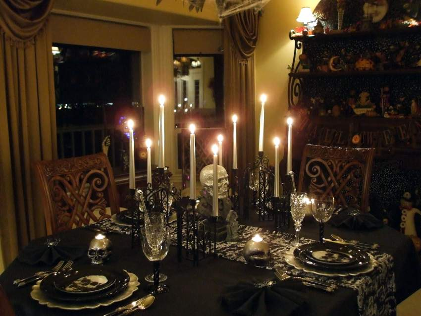 Halloween Tablescape With A Ghostly Centerpiece